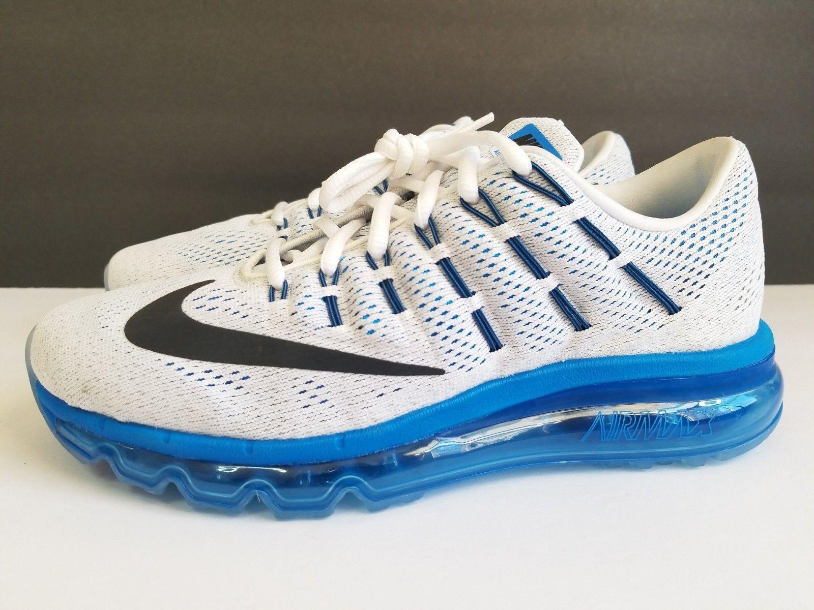 Nike Air Max 2016 Gs de Course Chaussure Blanc Bleu 807236-100 Sz 6.5Y / Femme 8