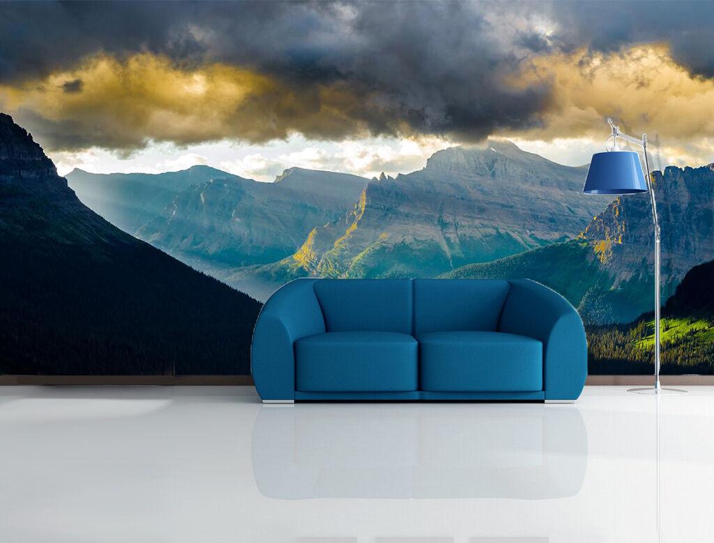 3D Offene Berge, der Himmel 3 Fototapeten Wandbild Fototapete BildTapete Familie