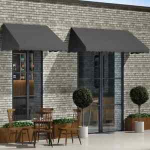 Detalles De Vidaxl Toldo Para Bar 300x120cm Gris Antracita Accesorios Casa Jardín Terraza