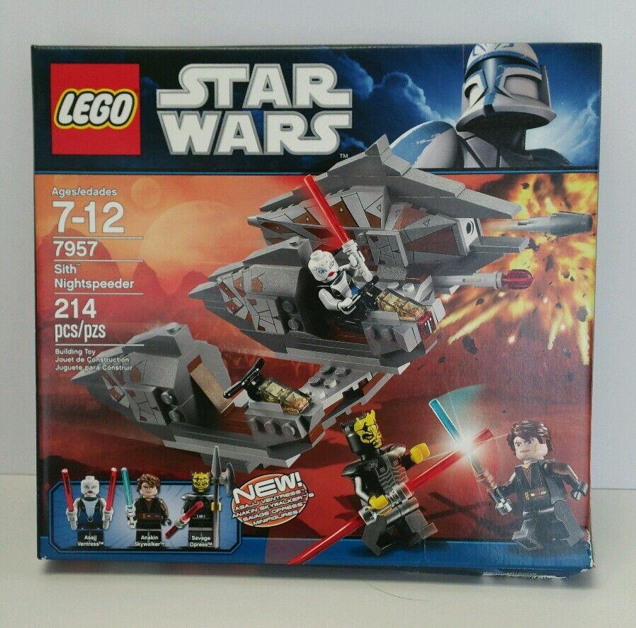 Lego Sith Nightspeeder 7957 Anakin Skywalker Asajj Ventress Savage Opress Nuovo