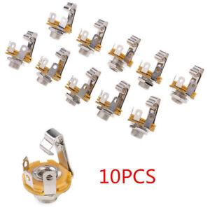 10x-1-4-Inch-Mono-Audio-Socket-Jack-6-35mm-Female-Connector-Panel-Mount-Solder