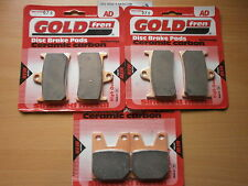 FULL SET SINTERED FRONT & REAR BRAKE PADS For: YAMAHA ' R1 ' 1998 1999 2000 2001