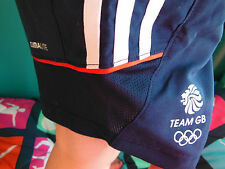 ADIDAS TEAM GB ISSUE - TRAINING FOR RIO IN  2016 - ATHLETE TECH SHORTS