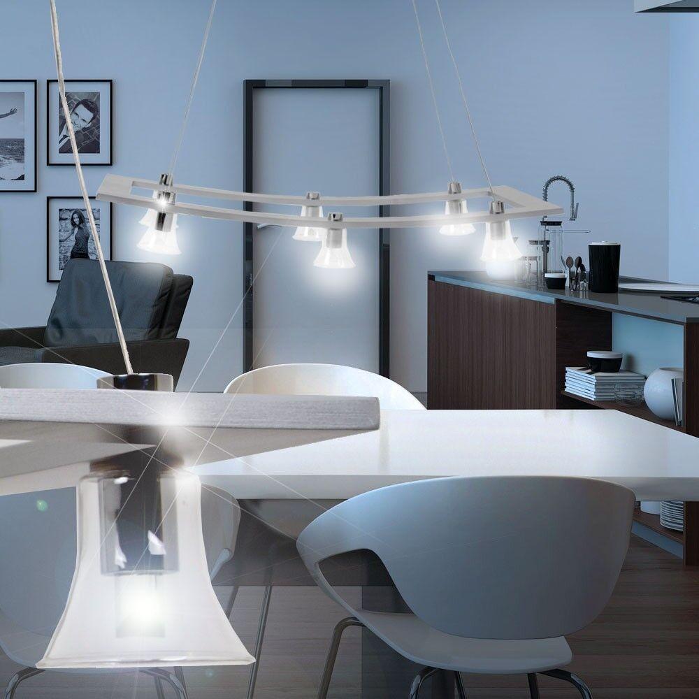 LED Hänge Leuchte Glas Lampe Decken Pendel Strahler Beleuchtung Ess Gäste Zimmer