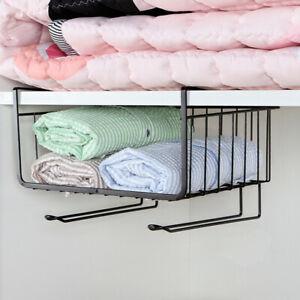 Under Shelf Cabinet Hanging Wire Basket Rack Kitchen Room ...