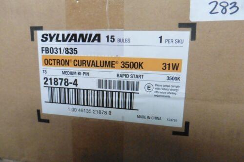 835 Octron Curvalume 31W 3500K medium bi pin 15 bulbs Sylvania FB031 FBO31