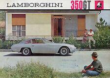 Lamborghini 350 GT 1964-67 UK Market Multilingual Foldout Sales Brochure