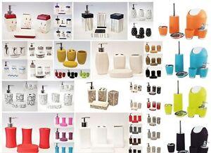 Bathroom-Accessory-Set-Soap-Dish-Dispenser-Tumbler-Toothbrush-Holder-Waste-Bin
