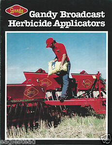 Details about Farm Equipment Brochure - Gandy - Herbicide Broadcast  Applicators (F4379)