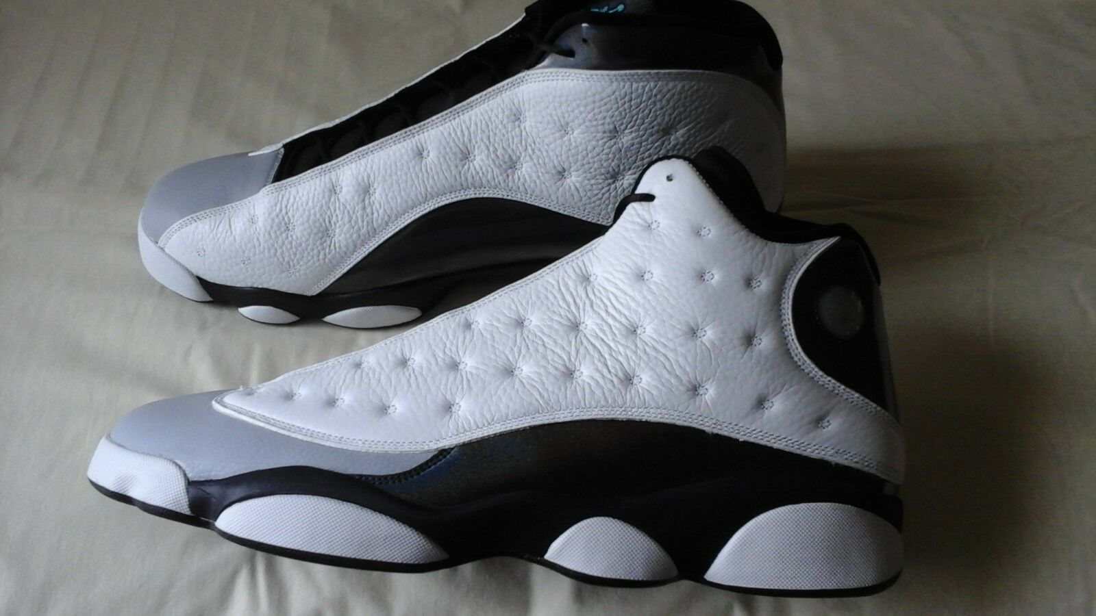1595e793024ae6 Nike Air Jordan 13 Retro Barons Halogram White Black 414571-115 414571-115  414571