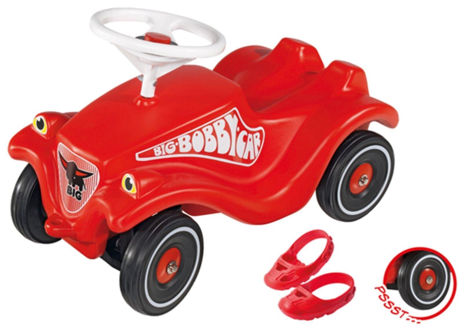 BIG bobby Car Classic rot mit Flüsterrädern und Schuhschonern Set neu ovp