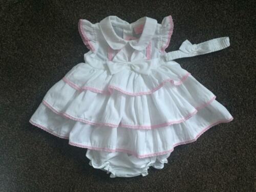 Baby Ragazze SPLENDIDA a strati Bianco Ruffle Dress Pantaloni /& Fascia Set 0-3 3-6 6-9
