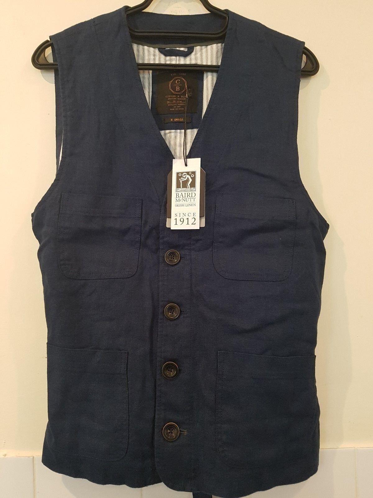 Baird McNutt Linen Waistcoat XS