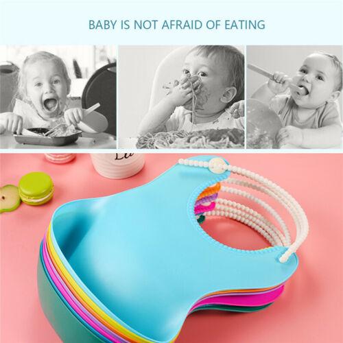 Cute Baby Silicone Bibs Waterproof Saliva Dripping Kid Infant Lunch Bibs