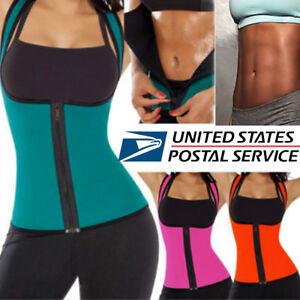 8367918ec7 Sweat Sauna Zipper Body Shaper Women Slimming Vest Thermo Neoprene ...