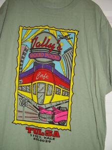 Tally's Good Food Cafe Tulsa T-Shirt Size Large | eBay
