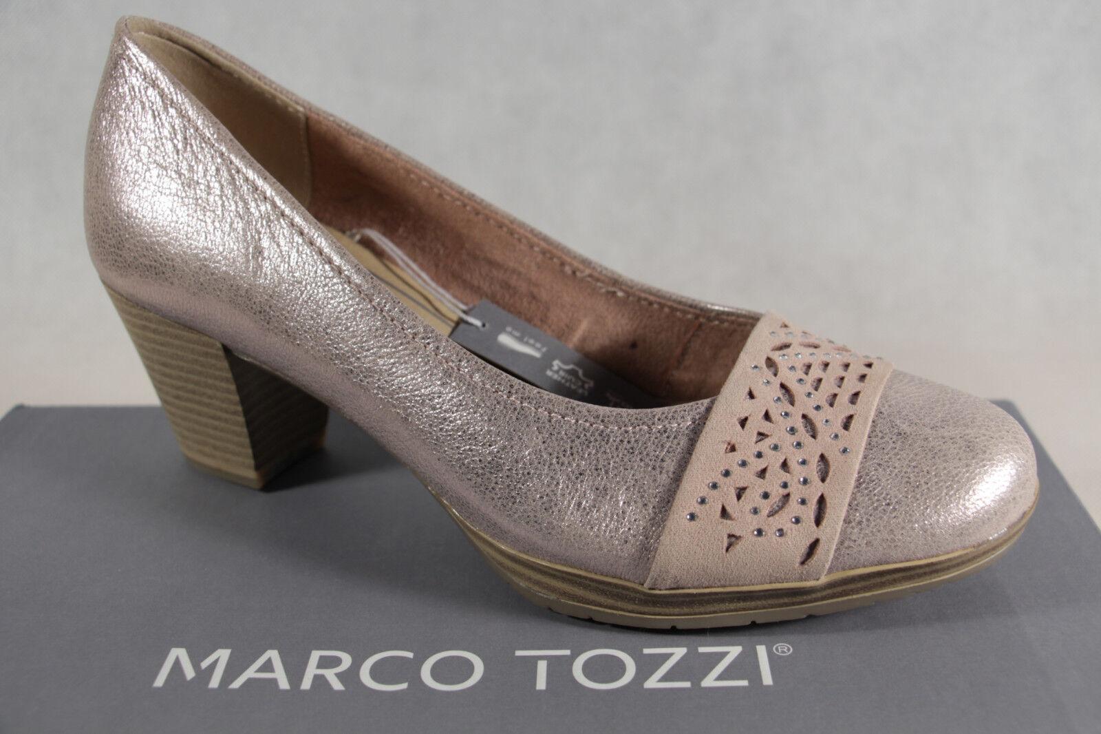 Marco Tozzi Pumps Ballerina Slipper rose metallic Echtleder  NEU