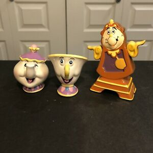 Disney-Beauty-And-The-Beast-Schmid-Mrs-Potts-And-Chip-Disney-Taiwan-Cogsworth