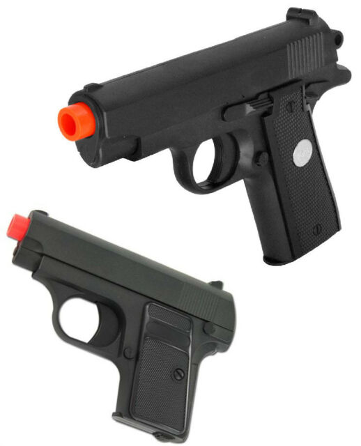 G1 & G2 Galaxy Colt  25 M9 1911 Spring Metal Airsoft Pistol Combo w/ 2000  bbs