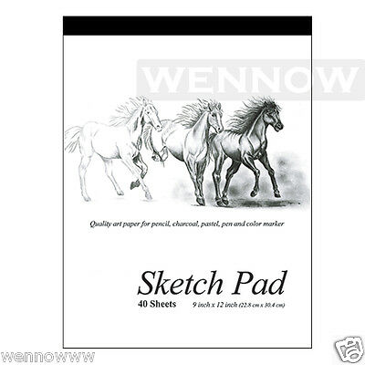 9 x 12 inches 40 Sheets premium Quality Sketch Book Paper Pad