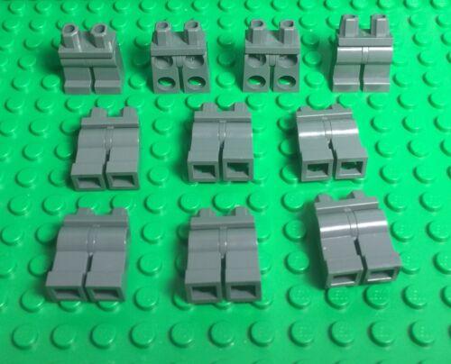 Mini Figures Body Parts LEGO X10 Bulk Plain Dark Bluish Gray Legs Hip Pants
