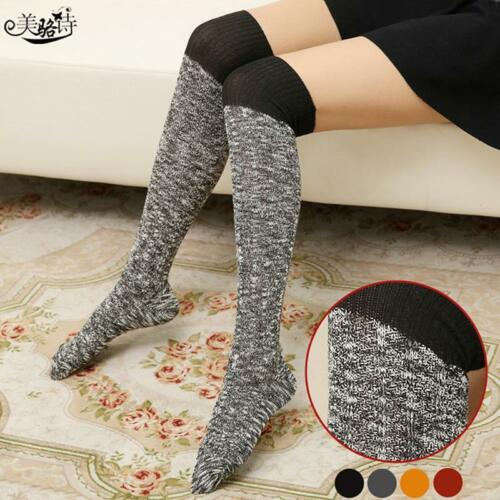 Women/'s Winter Cable Knit Over Knee Long Boot Thigh-High Warm Socks Leggings T