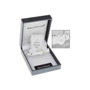 Equilibrium Silver Plated Cross Detail Baby Bangle Christening Gift I6SV2G