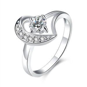 Placcato-Argento-Amore-Del-Cuore-Romantico-Zircone-anello-di-fidanzamento-17-5