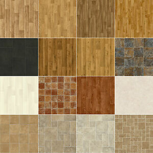Image Is Loading Vinyl Flooring Lino Anti Slip Kitchen Bathroom 1m