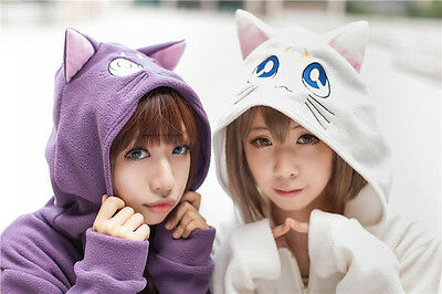 New Anime Cat Luna Zip Hoody Sailor Moon Cosplay Costume Cute Sweatshirt Hoodies