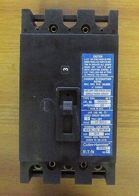 VD-66 * CUTLER HAMMER 225 AMP 3 POLE CIRCUIT BREAKER CHH3225 ...