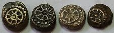 WHEEL 4 DIFF.NAGAS OF PADMAVATI (Narwar) ANCIENT COPPER COIN ,3 - 4th CENT.
