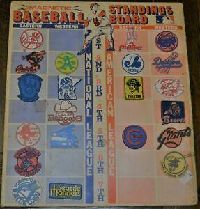MLB-1970-039-s-Baseball-Standings-Board-with-21-ORIGINAL-Magnets-Vintage-Above-Avg