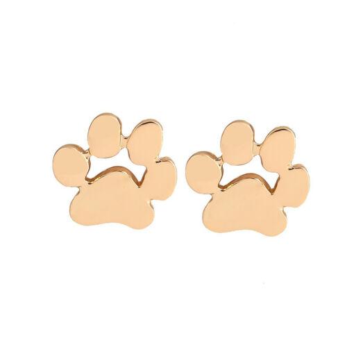 1 Pair Fashion Cute Paw Print Earrings Women Cat and Dog Paw Stud EarringsUULKNV