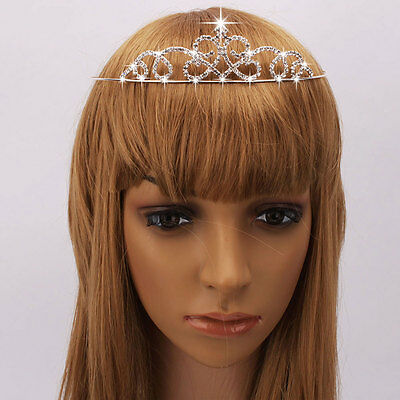 Bridal Wedding Woman Pretty Clear Rhinestone Tiara Crown Headband Jewelry US