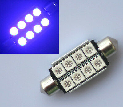 1x BLAU 42mm 8 SMD C5W SMD LED Soffitte Hauptbeleuchtung Handschuhfach Canbus