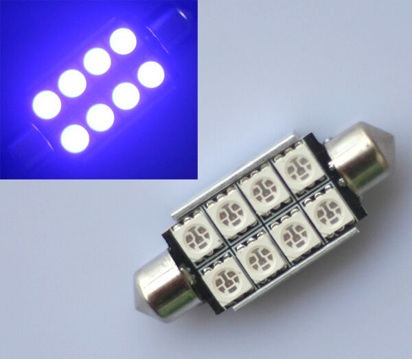 1x BLAU 42mm 8 SMD SMD LED Soffitte Hauptbeleuchtung Handschuhfach Canbus
