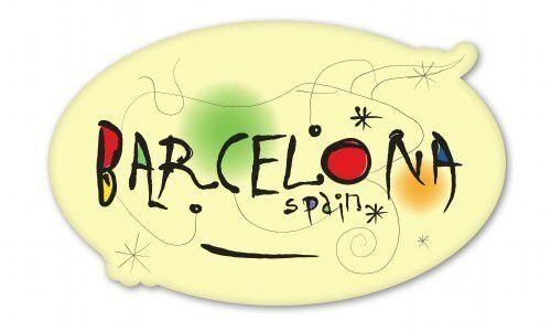 SELECT SIZE Barcelona Oval Car Vinyl Sticker