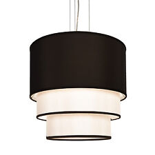 New 4 Lamp Drum Cylinder Three Layer Shade Hotel Pendant Ceiling Light