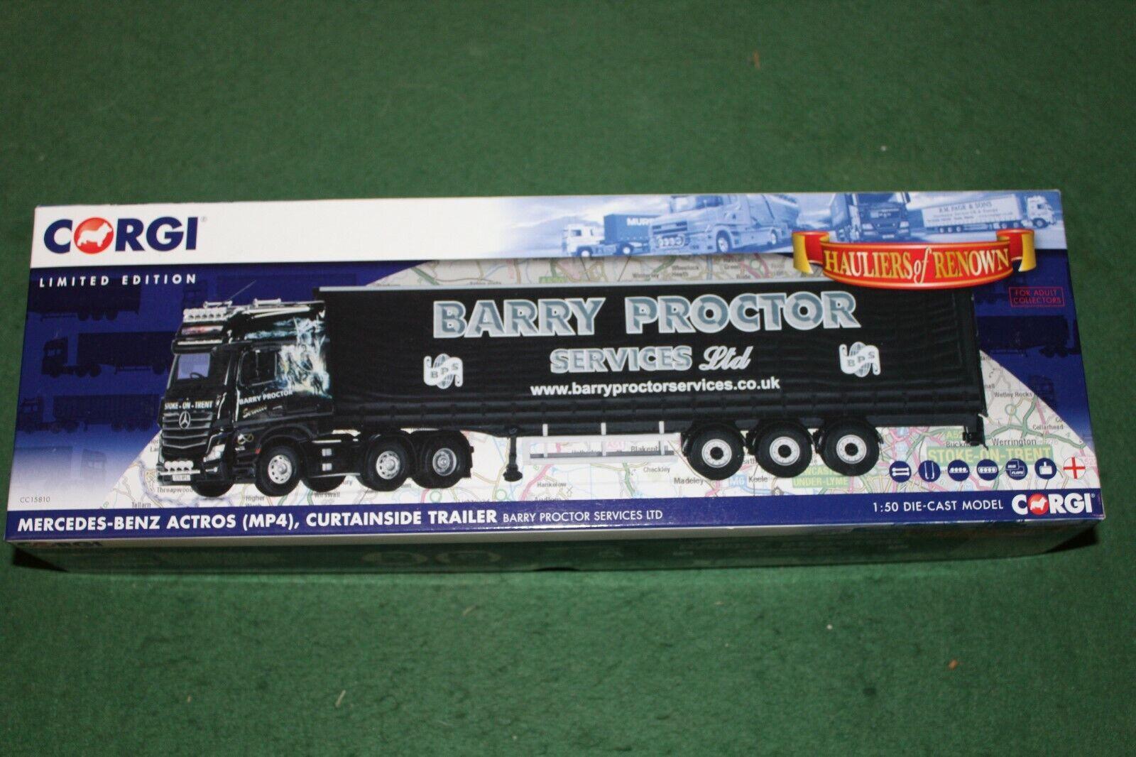 CORGI trasportatori di fama MERCEDES BENZ ACTROS MP4 in Barry proctorlivery CC15810