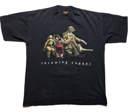 Vintage 90s  Live Throwing Copper T Shirt XL BROCK