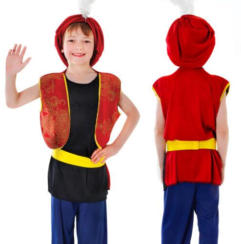 Enfants arabian boy fancy dress costume aladdin sultan tenue 3-13 ans