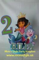 Dora Mermaid Cake Topper Birthday Party Supply