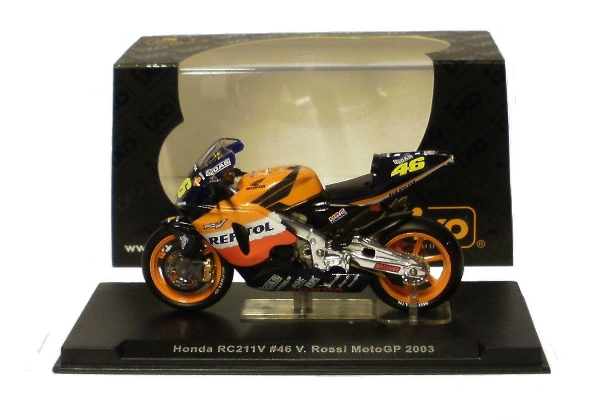 IXO RAB055 Honda RC211V 2003-escala 1 1 1 24 de Valentino Rossi  venta directa de fábrica