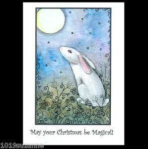 Hare-Art-Christmas-cards-6-pack-stars-from-original-painting-by-Suzanne-Le-Good