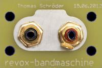 Abstandserweiterung der Cinchbuchsen für alle Studer Revox A740, A 740