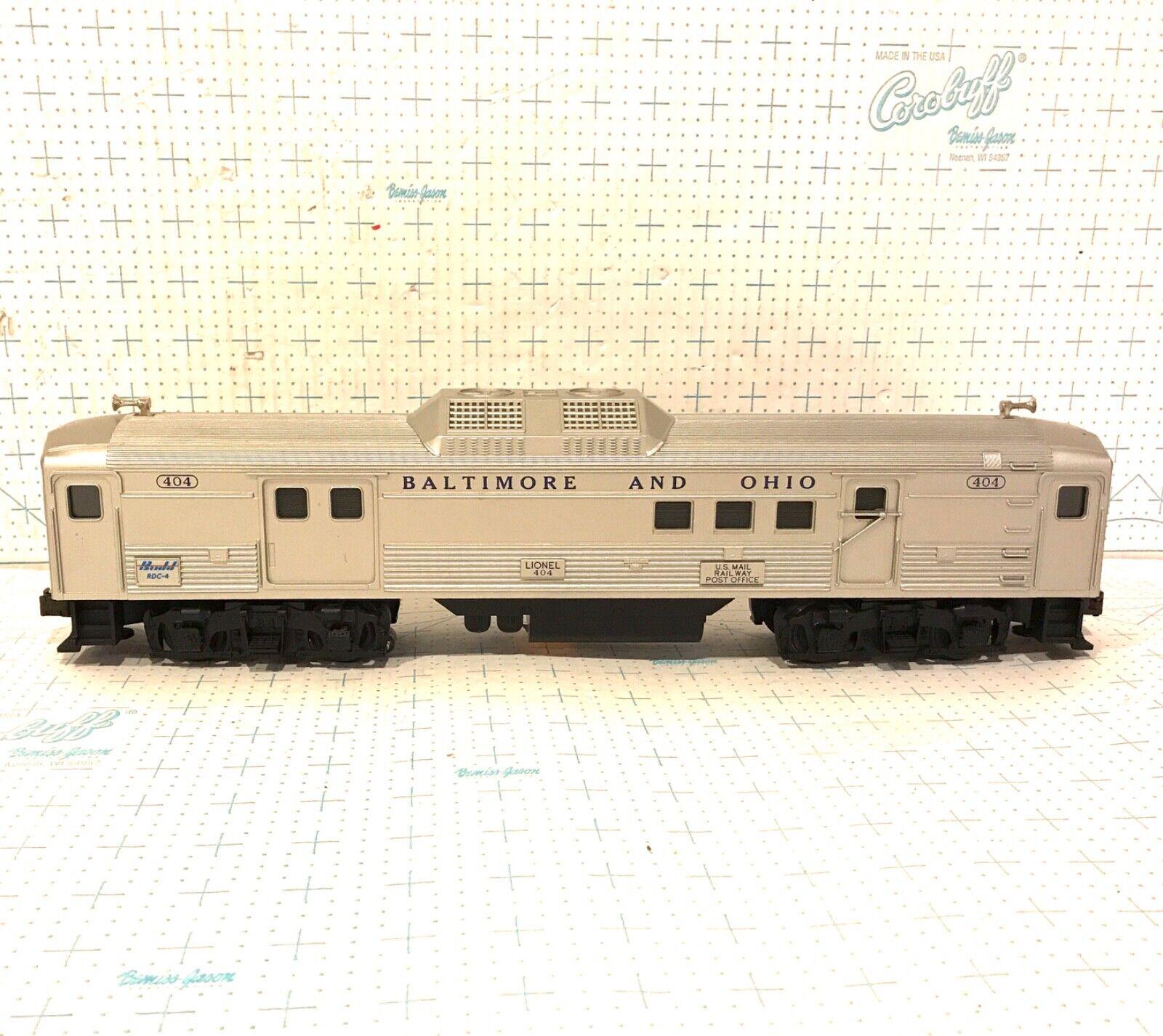 Lionel O Scale 404 Baltimore & Ohio US Mail Railway Postal Office RDC-4 BUDD Car