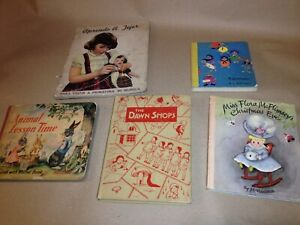 Various-rare-old-children-039-s-books-French-amp-English-Lamarque-D-039-Elaine-d-039-A