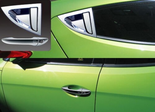 Chrome Door Handle Cover Molding For 2011 2017 Hyundai Veloster /& Turbo