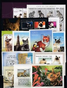 NV 30 S/S - 2 SCANS - MNH - ANIMALS - CATS - PETS - DOMESTIC ANIMALS - WHOLESALE